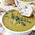 Vegan Split Pea Soup | Can't Stay Out of the Kitchen | this amazing #soup is terrific. It's chocked full of veggies along with being healthy, low calorie, #glutenfree & #vegan. We love it. #splitpeas