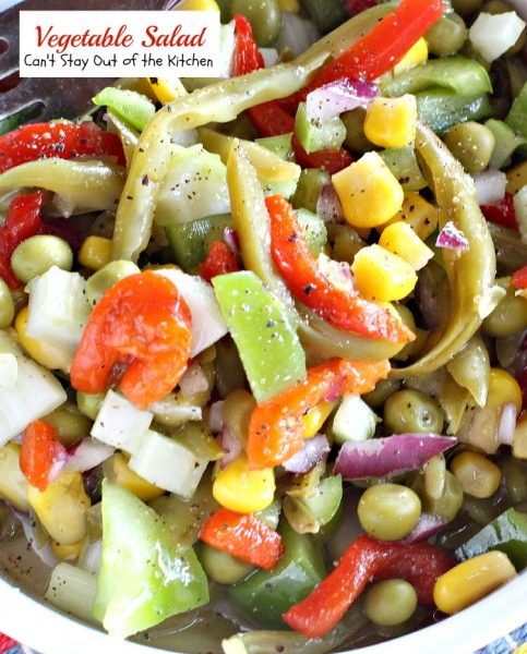 Vegetable Salad | Can't Stay Out of the Kitchen | delicious #salad with an wonderful marinade. #glutenfree #vegan #veggies.