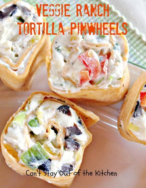 Here's a platter of Veggie Ranch Tortilla Pinwheels. These tasty ...