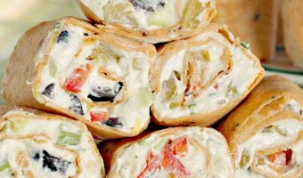 Veggie Ranch Tortilla Pinwheels