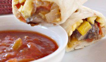 Veggie and Potato Breakfast Burritos