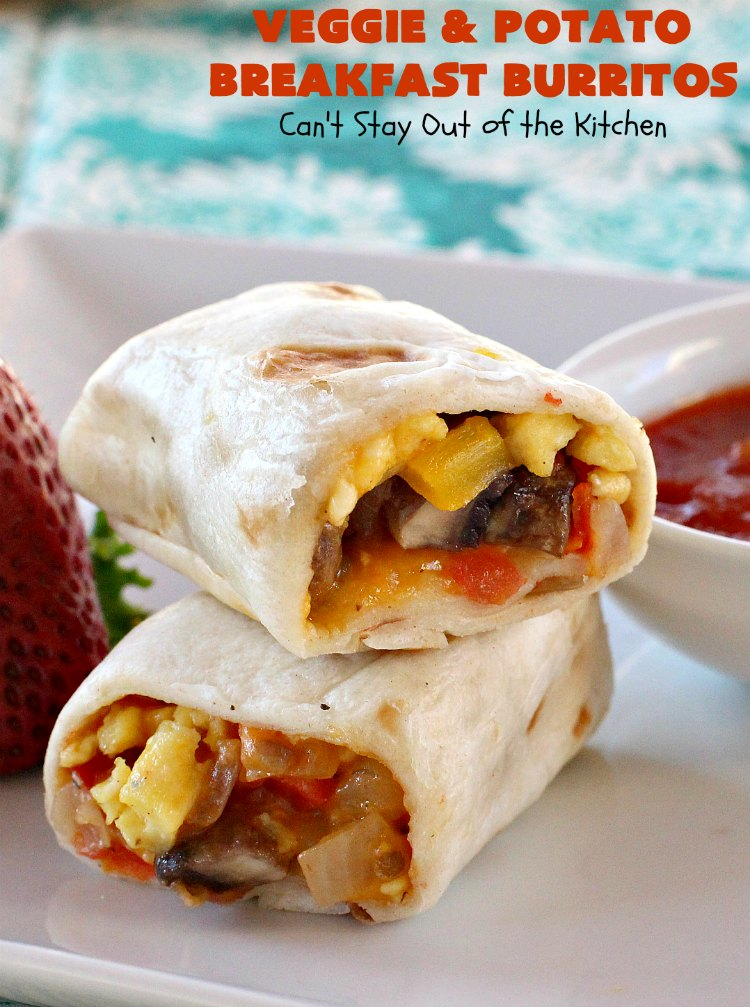 Veggie And Potato Breakfast Burritos
