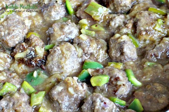 Waikiki Meatballs | Can't Stay Out of the Kitchen | delicious #Polynesian flavors and so quick and easy to make. I made it with homemade #glutenfree bread crumbs and it was wonderful. #beef #pineapple