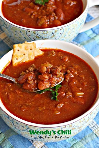 Wendy's Chili | Can't Stay Out of the Kitchen | fabulous #copycat recipe for #Wendy'schili. #chili #glutenfree