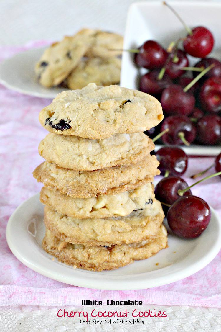 White Chocolate Cherry Coconut Cookies Can T Stay Out Of