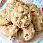 White Chocolate Peppermint Cookies   Can't Stay Out of the Kitchen   fantastic #cookies with white #chocolate chips & #Andes #peppermint baking chips. Great for #holiday baking. #dessert