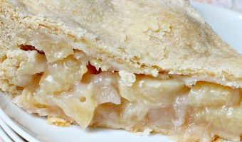 White Flesh Peach Pie