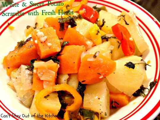 White and Sweet Potato Scramble with Fresh Herbs - Recipe Pix 22 546