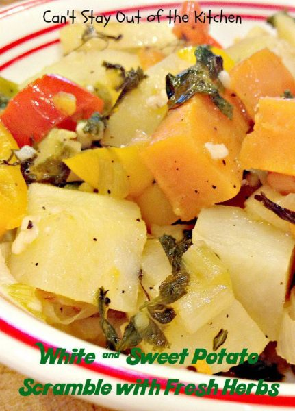 White and Sweet Potato Scramble with Fresh Herbs - Recipe Pix 22 562.jpg