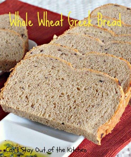 Whole Wheat Greek Bread - IMG_0779