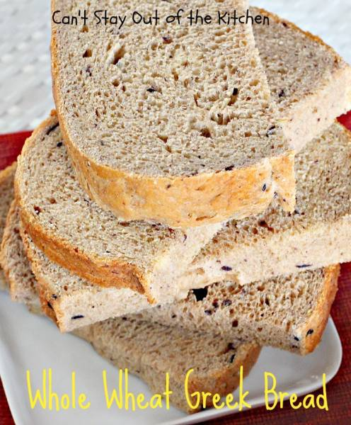 Whole Wheat Greek Bread - IMG_0816