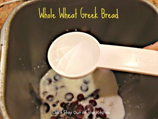 Whole Wheat Greek Bread - IMG_5326