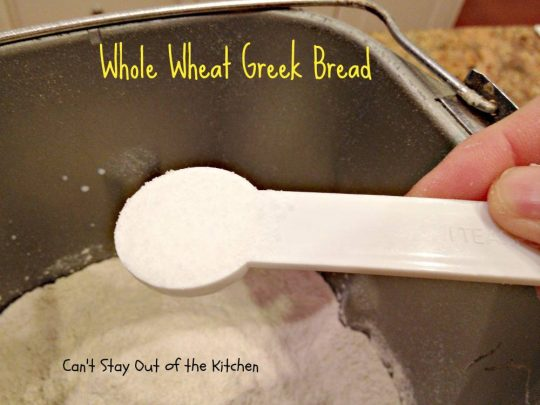 Whole Wheat Greek Bread - IMG_5329
