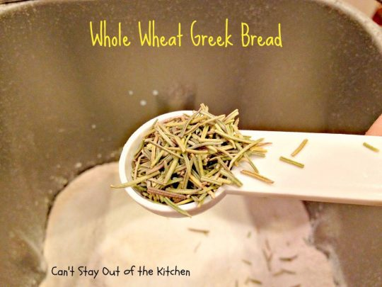 Whole Wheat Greek Bread - IMG_5330