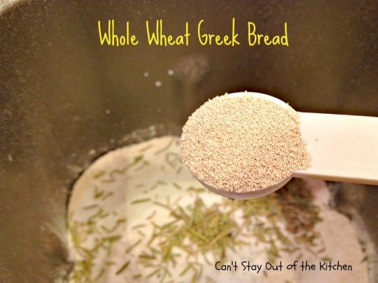 Whole Wheat Greek Bread - IMG_5332