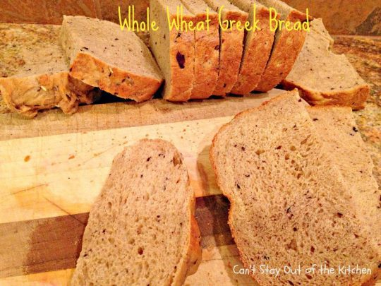 Whole Wheat Greek Bread - IMG_5590