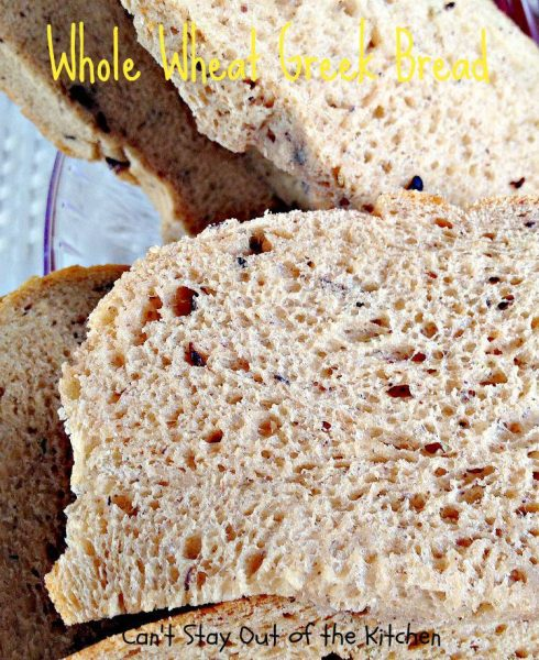 Whole Wheat Greek Bread - IMG_5599