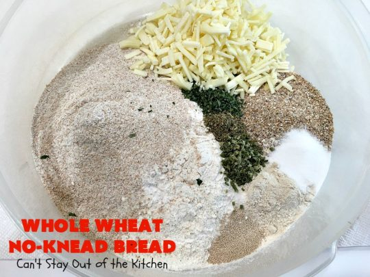 Whole Wheat No-Knead Bread | Can't Stay Out of the Kitchen | fantastic #NoKneadBread using #WheatFlour, #ProvoloneCheese & #SevenGrainCereal. Incredibly easy #HomemadeBread #recipe. #bread #ArtisanBread