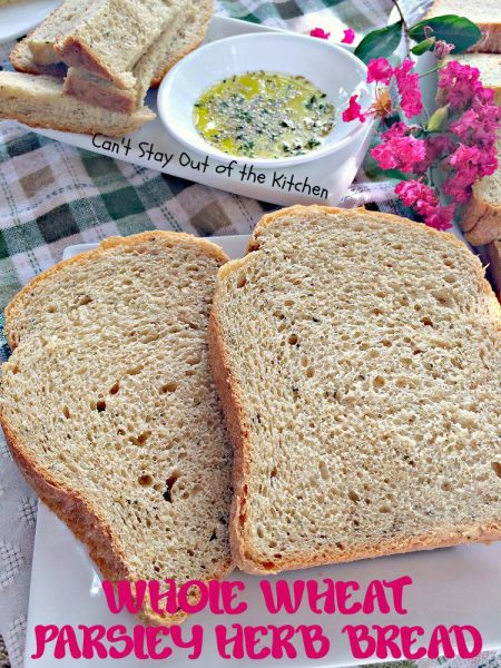 Whole Wheat Parsley Herb Bread - IMG_4109.jpg