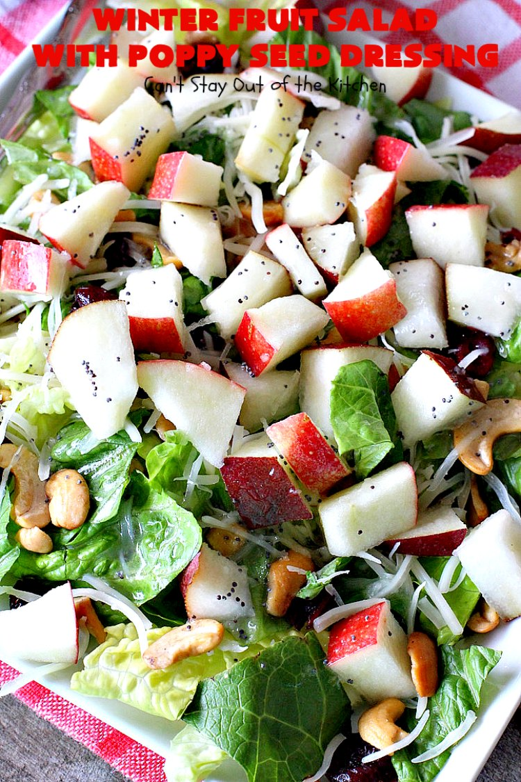 Winter Fruit Salad with Poppy Seed Dressing