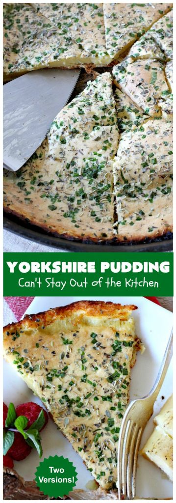 "Yorkshire Pudding | Can't Stay Out of the Kitchen | this delightful ""pudding"" is terrific to serve with a #PotRoast dinner. Puffs up huge while baking. #bread #YorkshirePudding"