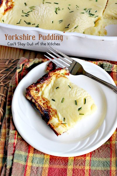 Yorkshire Pudding | Can't Stay Out of the Kitchen | delightful accompaniment to any #potroast dinner. #British #bread