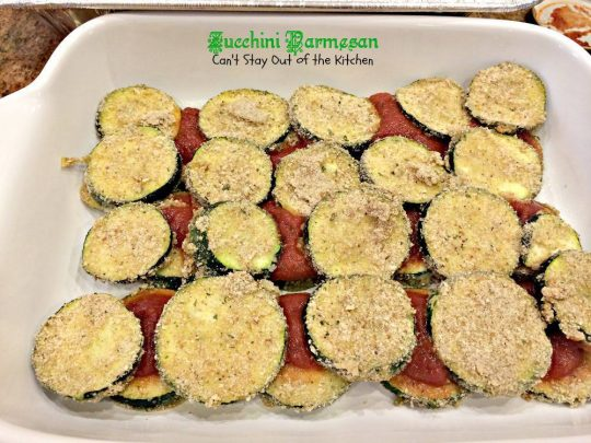 Zucchini Parmesan | Can't Stay Out of the Kitchen | fabulous #Italian #casserole filled with #zucchini #marinarasauce and #parmesancheese.
