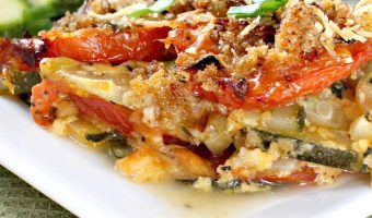 Zucchini and Tomato Parmesan Casserole