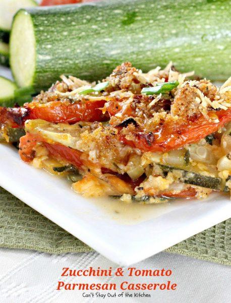 Zucchini and Tomato Parmesan Casserole - IMG_2362