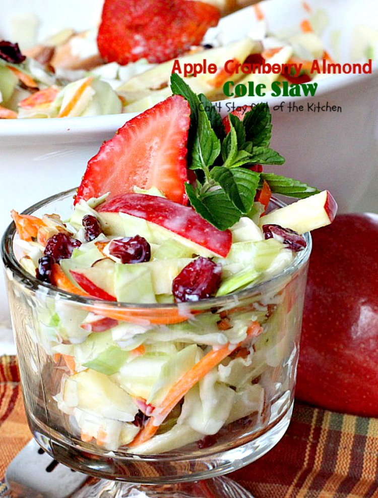 Cole Slaw never tasted so wonderfully as it does with all these fruits ...