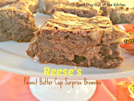 reese's Peanut Butter Cup Surprise Brownies - IMG_4093